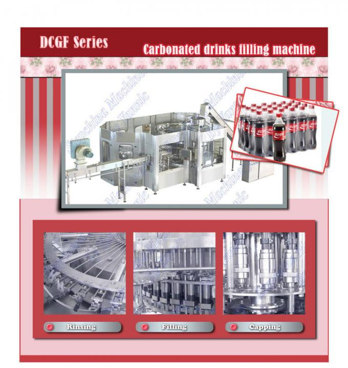 Automatic CO2 Bottled Soft Drink Fruit Juice Filling Machine With 5.5KW ABB Motor