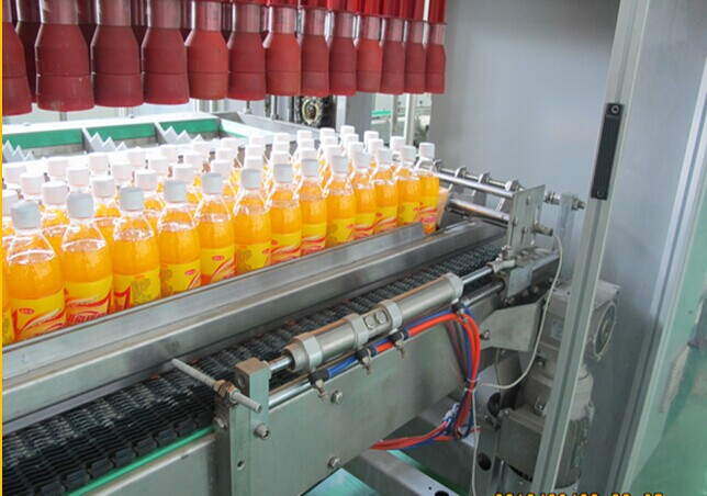 Carbonated / Pure Water Bottle Packing Machine With Carton Box 20 cases/min