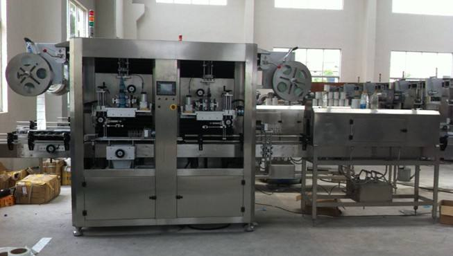 High Speed Shrink Sleeve Labeling Machine SUS304 Material For PET Bottle