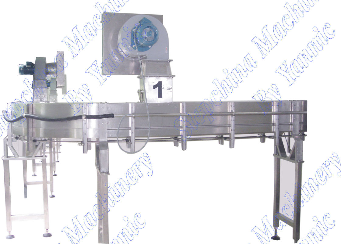 Bottle Air Conveyor Systems / Plastic Chain Conveyor Systems 0.6 Mpa Air Pressure