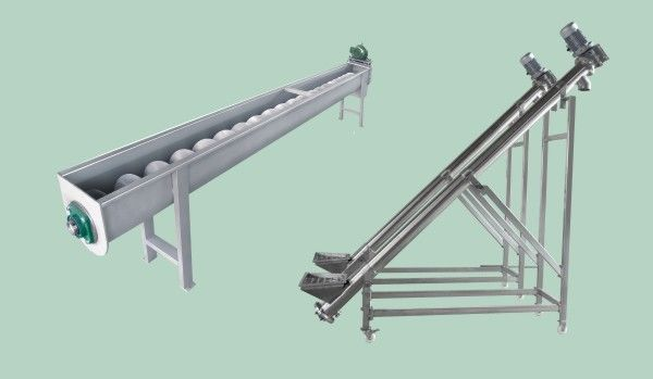 Long 6TPH Spiral Conveyor Fruit And Vegetable Processing Equipment