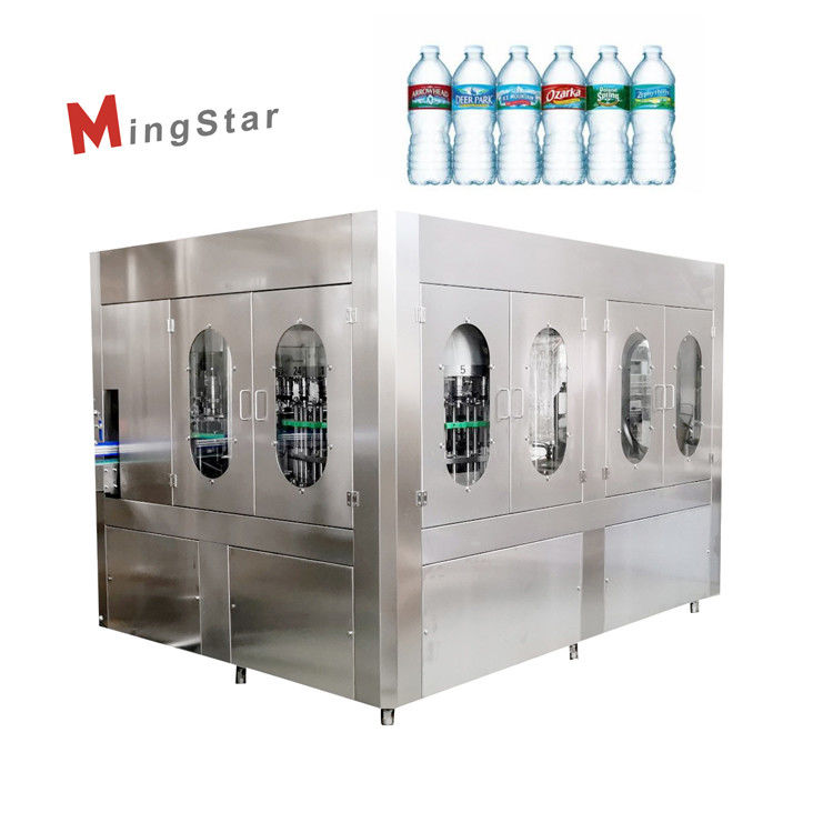 Plastic 500Ml Pet Bottle Filling Machine Auto Bottled Drinking Water Plant