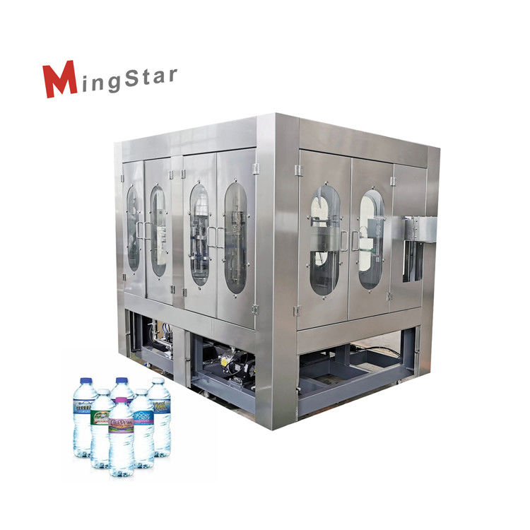 Rotary Type Mineral Water Production Plant , Plastic Bottle Filling Machine