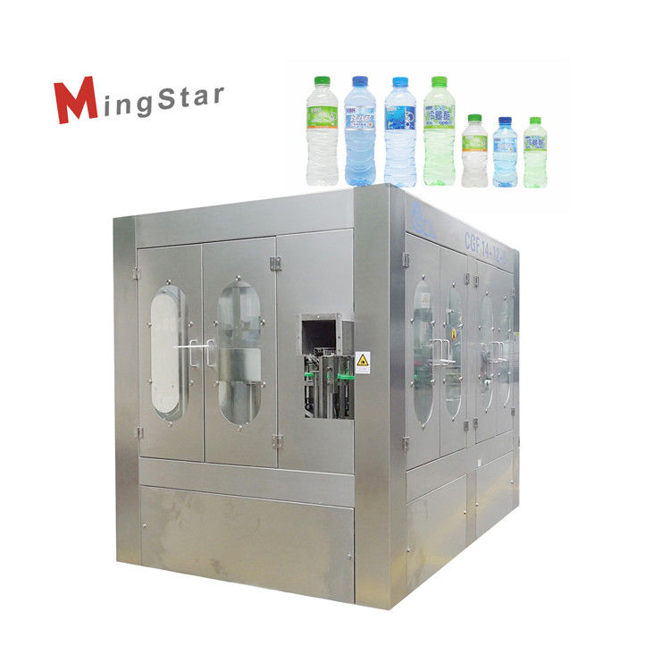 Turnkey Project Mineral Water Bottle Plant , Pet Bottle Filling Machine Fully Automatic