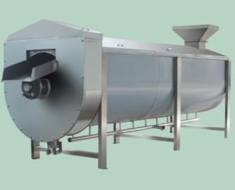 SUS304 Fruit And Vegetable Processing Equipment Spiral Type Vegetable Blanching Equipment