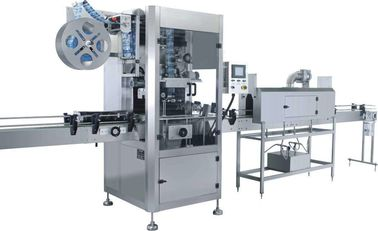 Fast Speed Shrink Label Machine / Sleeve Labeling Machine Applied Beverage Industry