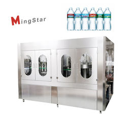 Plastic 500 Ml Mineral Water Bottle Plant , Automatic Pet Bottle Filling Machine