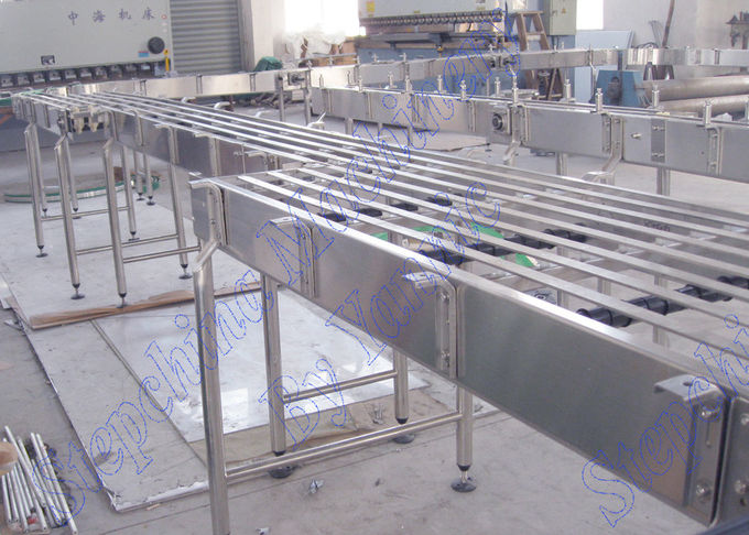Designed Conveyor Systems / Modular Belt Conveyor Systems For Bottled Water Transportation