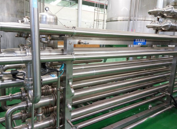 High Temperature SUS304 Tubular Pasteurizer 8TPH Tube Type Sterilizer